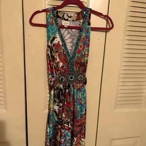 Eci multi colored mid length dress